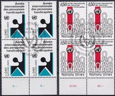UNO GENF 1981 Mi-Nr. 97/98 Viererblocks O Used - Aus Abo - Gebraucht