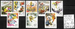 [1242]TB//**/Mnh-c:70e-Chine 1979 - N° 2286/93, SC, Bandes Dessinées, Arts - Unused Stamps