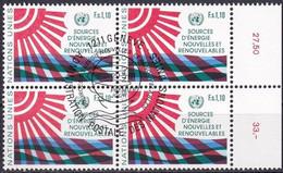 UNO GENF 1981 Mi-Nr. 100 Viererblock O Used - Aus Abo - Gebraucht