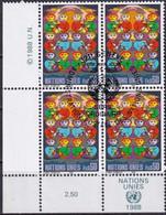 UNO GENF 1986 Mi-Nr. 164 Viererblock O Used - Aus Abo - Gebraucht