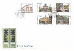 Sweden FDC 2003 Garden Houses (DD31-47) - Altri