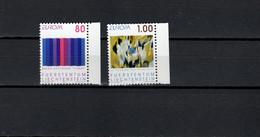 Liechtenstein 1993 Paintings, Bruno Kaufmann, Evi Kliemand, Europa CEPT Set Of 2 MNH - Moderni