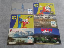Chile -  6 Rarer Phonecard - Chile