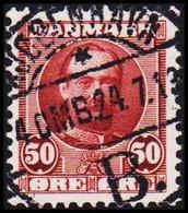 1907. King Frederik VIII. 50 Øre Red-lilac LUXUS CANCEL KJØBENHAVN 24.7.13. (Michel 58) - JF510018 - Used Stamps