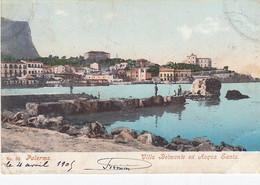 PALERMO-VILLA BELMONTE E ACQUA SANTA-CARTOLINA VIAGGIATA IL 24-4-1905 - Palermo