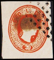 1860. Lombardei Und Venetien. Franz Joseph I. 20 SOLDI.  Imperforated. Interesting Ol... () - JF510054 - Austrian Occupation