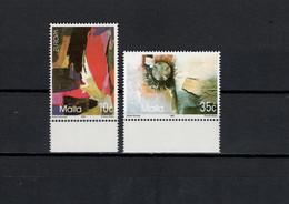Malta 1993 Paintings, Pawl Carbonaro, Alfred Chircop, Europa CEPT Set Of 2 MNH - Moderni