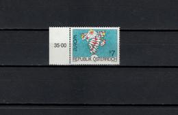 Austria 1993 Paintings, Paul Flora, Europa CEPT Stamp MNH - Moderni