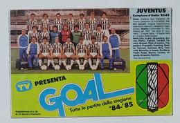 04314 153crt/ - Calendario Serie A 1984/85 - Juventus Campione 83/84 - Abbigliamento, Souvenirs & Varie