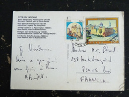 LETTRE ITALIE ITALIA AVEC YT 1437 FORTERESSE CALASCIO AQUILA ET YT 1583 ALGHERO VATICAN VATICANO PAPA PAPE JEAN PAUL II - 1981-90: Storia Postale
