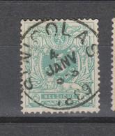 COB 45 Oblitération Centrale ST-NICOLAS - 1869-1888 Lion Couché