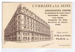 PARIS - L'Urbaine & La Seine - 37-39 Rue Le Peletier - Cachet E. DELANNE - SALIGNAC ( Gironde ) - Altri