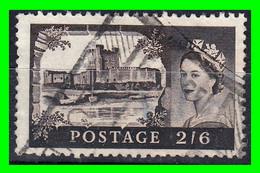 GRAN BRETAÑA -&- (EUROPA) SELLO AÑO 1955 -  CASTILLOS NEGRO ELISABET II - Used Stamps