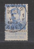 COB 120 Oblitération Centrale NAMUR - NAMEN 1F - 1912 Pellens