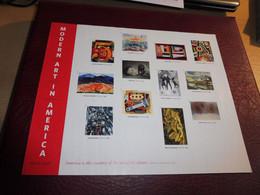 USA, 100 Jahre Modern Art, Mi.Nr. 4936-47 BB, Ungestanzt - Blocks & Sheetlets