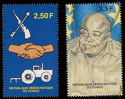 1721/1722**(BL133/134)  - 1er Anniversaire De La 3e République / 1e Verjaardag Van De 3e Republiek - CONGO - Ongebruikt