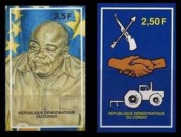 1721/1722**(BL133/134) ND/OG  - 1er Anniversaire De La 3e République / 1e Verjaardag Van De 3e Republiek - CONGO - Ongebruikt