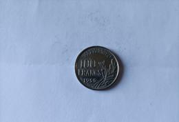 ---1 Piece-100-Francs--1955--Cochet--Ruban-de-Coiffe-Large--Cupro-Nickel-( Qualité-en--Sup+++++++- - N. 100 Francs