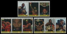 Jamaika 2000 - Mi-Nr. 943-951 ** - MNH - Aus KLB - Lennox Lewis - Jamaica (1962-...)
