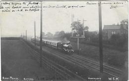 ANGLETERRE RETFORT 2 CARTES PHOTO GARE TRAIN ROYAL 1905 A VOIR - Altri