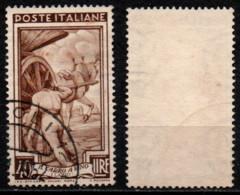 Italia Al Lavoro 40 Lire Filigrana Ruota 1 Destra Bassa - 1946-60: Usati