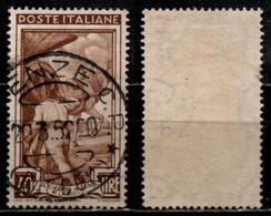 # Italia Al Lavoro 40 Lire Filigrana Ruota 1 Destra Bassa - 1946-60: Usati