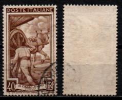 Italia Al Lavoro 40 Lire Filigrana Ruota 1 Sinistra Alta - 1946-60: Usati