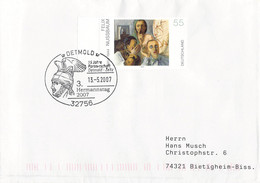 Germany Cover Posted 2007 Detmold 3. Hermannstag (DD31-45) - Briefe U. Dokumente