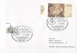 Germany Cover Posted 2006 Poing 5000 Jahre Poing (DD31-45) - Briefe U. Dokumente