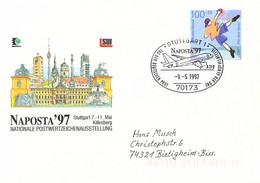 Germany Cover Posted 1997 Stuttgart Naposta 97 (DD31-45) - Esposizioni Filateliche