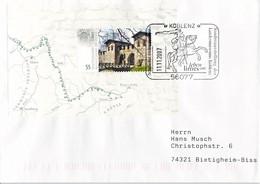 Germany Cover Franked W/LIMES Souvenir Sheet Posted 2007 Koblenz Leben Am Limes (DD31-45) - Briefe U. Dokumente