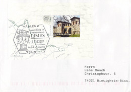 Germany Cover Franked W/LIMES Souvenir Sheet Posted 2007 Aalen Limes (DD31-45) - Briefe U. Dokumente
