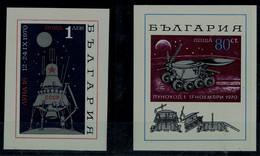 BULGARIA 1970 SPACE LUNA 16 MI No BLOCK 28+29 MNH VF!! - Europa