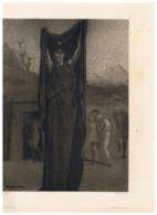 """Reproduction D'une Oeuvre D' Eugène VIDAL ( Peintre ) """" La Mort """" ? Illustrant Le Livre """" Don Juan """" Art (FR100 ) - Altri"""