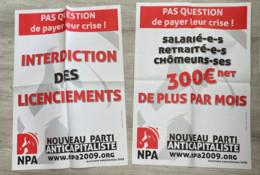 NPA : 3 Affiches / 5 Autocollants / 1 Document 4 Pages & 2 Tracts (affiches Expédiées Pliées) - Manifesti