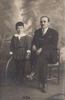 """PALERMO_ 13 Aprile 1924  /  Padre E Figlio In Posa Per Il Terzo Centenario Di Santa Rosalia _ Foto  """"S. Genova"""" _Palermo - Palermo"""