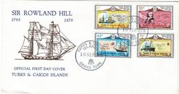 Turks & Caicos Islands 1979 Sir Rowland Hill Centenary FDC - Turks And Caicos