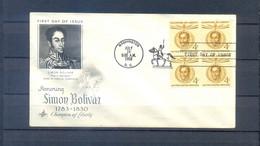 UNITED STATES 1958 FDC SIMON BOLIVAR - 1951-1960