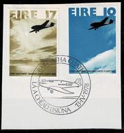 Irland 1978,Michel# 374 - 375 O  50th Anniv. Of First East-West Transatlantic Flight - Usati