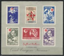 CZ-/-023-FEUILLET NON DENTELÉ De 1943  N° 85/90 , Cote 5.00 €,  VOIR IMAGES POUR DETAILS, IMAGE DU VERSO SUR DEMANDE, - Croce Rossa