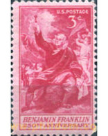 Ref. 161646 * MNH * - UNITED STATES. 1956. 250TH ANNIVERSARY OF THE BIRTH OF B. FRANKLIN (1706-1790) . 250 ANIVERSARIO - Unused Stamps