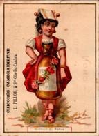 Vers 1890 Publicité Chicorée Cambrésienne Pilloy :Ste Olle Lez Cambrai : Illustration Femme Bouteille Vermouth Di Torino - Non Classificati