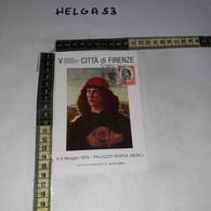 FB11172 FIRENZE 1976 TIMBRO ANNULLO V CONVEGNO INTERNAZIONALE E NUMISMATICO PALAZZO BORSA MERCI - 1971-80: Storia Postale