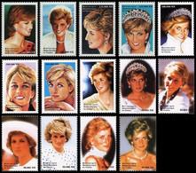 1698/1711**(BL127/129) - Diana (1961-1997) - CONGO - Ongebruikt