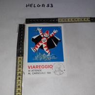 FB11189 VIAREGGIO 1990 TIMBRO ANNULLO CARNEVALE 1990 ILLUSTRATA - 1981-90: Storia Postale