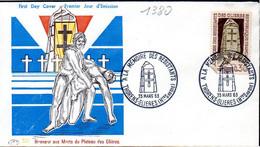 France 1380 Fdc Morts Du Plateau Des Glières - Guerre Mondiale (Seconde)