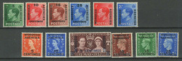Great Britain / ( French ) Morocco 1935/40 ☀ Overprinted & Surcharged Lot ☀ MH* - Morocco Agencies / Tangier (...-1958)