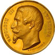 France, Médaille, Napoléon III, Prix Académie De Strasbourg, 1862, Ponscarme - Other