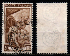 # Italia Al Lavoro 40 Lire Filigrana Ruota 3 Destra Bassa - 1946-60: Usati
