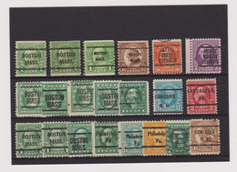 United States US U.S. Precancel Colour Selection Stamps Various Lot Fine Used (m907) - Used Stamps